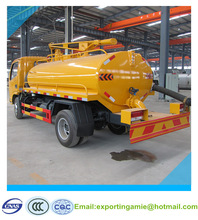 dongfeng diesel 95hp 4x2 4 tons sewer septic truck