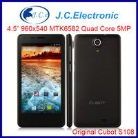 "Original Cubot S108 Phone MTK6582 Quad Core 1.3GHz 512MB RAM 4GB ROM 4.5"" IPS QHD Screen Android 4.2 GPS 5.0MP 3G GPS"