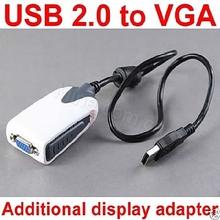 External USB to VGA multi monitor external video adapter free driver