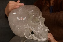 SUPER CLEAR QUARTZ CRYSTAL REALISTIC SKULL carvings,hand carved and polished,best workmanship