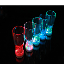 Attractive cup led glow party glass supplies,plastic led party lights cup