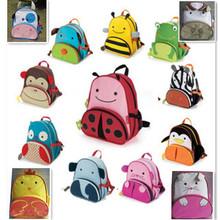 Hot lowest price! Hot children zoo backpack cute kids cartoon animal school bag kindergarten satchels mochila pack bolsas WF-470