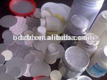 customized aluminium plastic laminate raw materials for plastic bottle caps for plastic bottles