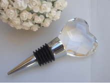 heart shape Crystal diamond Wine Stopper MH-L0189