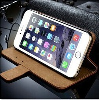 hot selling leather wallet stand case mobile phone pouch for iphone 6