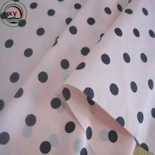 polka dot printed garment fabric/ripstop nylon fabric sale