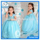 Wholesale girls forzen elsa dresses baby dress cutting