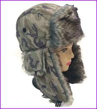 Customize Warm Winter Faux fur Earflap Hat Russian Military Style Winter Hat