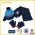 Bufanda de punto& sombrero& guantes kst0001 conjunto