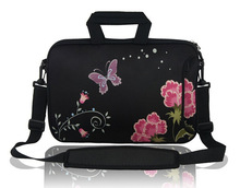 Customized Flower Design Laptop Bag Notebook Sleeve Good Quality LT0829