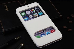 Cross Grain Stand PU Leather Case For iPhone 6 4.7 inch