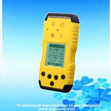 Portable 4 gaes NH3 O2 H2S CH4 multi gas leak detector