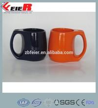 ceramic heat transfer mug, colored mug FE1410-034 black and orange mug