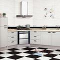 Preço de fábrica 30*60 branco cozinha preto e branco de cerâmica telha de assoalho