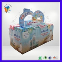 umbrella paper display stand with four sides ,umbrella cardboard display ,ubique paper floor display