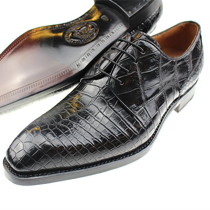 Chaussures Homme Crocodile Cuir en Cuir Chaussure Homme