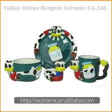 Factory Direct Sales Ceramic Cartoon dubai porcelain dinner set