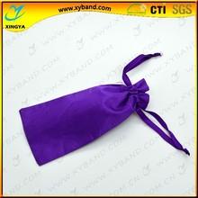 Small MOQ fashion satin pouch bag