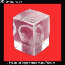 3d crystal cube 3D laser etched glass cube crystal gift