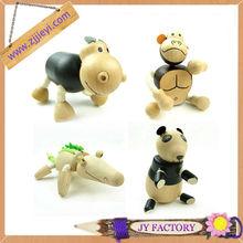 Jieyi nouveau design sculpté à la main en bois animaux figurines