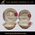 tea color round melamine tableware with wavy rim