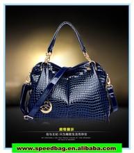 2014 Extreme luxury fashion crocodile grain female bag PU leather handbag shoulder bag