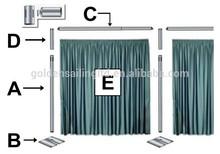 wholesale pipe and drape decoration luxury silk drapery curtain