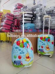 Cartoon kids luggage on wheels