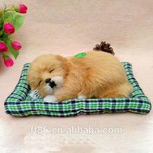 lifelike snoring stuffed sleeping breathing animal sound plush dog toy