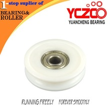 plastic grooved roller pulley