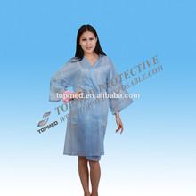 Disposable ladies modern dress, nonwoven kimono bathrobe
