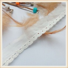 100%cotton white saree border lace with sewing tape with middel big holes for maxi dress/ long top/skirt perfect quality