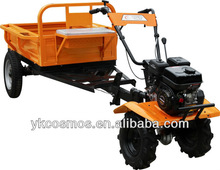 Power mini cultivator with walking tractor