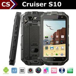 New Cruiser S10 waterproof phone 2000mah battery 2mp+13mp camera quad core 1GB+16GB best waterproof cell phone verizon
