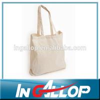 plain natural cotton book bag