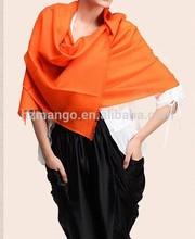 Ladies' simple style wool pashmina shawls
