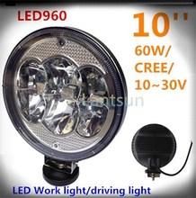 "cree 9"" led driving light 4x4 round led truck light 60w for atv led work light 9inch"