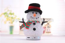 Christmas gift for mini snowman bluetooth speaker