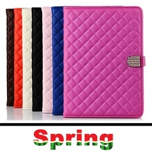 Leather Case for iPad Air 2 with Stand+Rhinestone Luxury Brand Smart Cover for iPad 6 Tablet Covers Cases Wholesale Retail