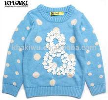 2014 fashion design ragazze autunno vestiti, ragazze maglione per le ragazze