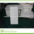 Blanco mármol de cuarzo cristal de pentecostés de piedra baldosas grandes/losa de corte- a- tamaño de material del suelo