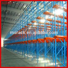 Industrial high density warehouse drive-in storage racking