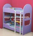 2014 venta al por mayor de china los niños juegos de dormitorio de madera mini doble cama litera para niños