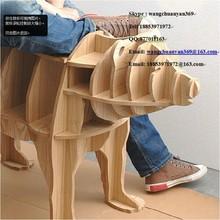 other brand original brown bear tea desk ,animal shape ,animal shape wood shelf.home show decoration