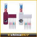 Montaje en pared automático dispensador de pasta de dientes& titular de cepillo de dientes