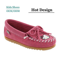 2014 Newest Design autumn winter supple suede cute hello kitty infant toddlers girl shoes
