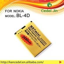 li-polymer 3.7v battery BL-4D For nokia N97 mini/N8-00/E5-00/E7-00/T7-00/702T gold battery 2680mAh