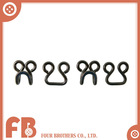 Fashion coat hook and eye closures buckles for bra