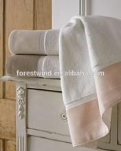 wholesale 100% cotton waffle border towel fabric bath towel