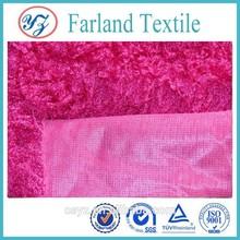 pv plush fabric for worm garment stuffed animal toys fabric knit fleece